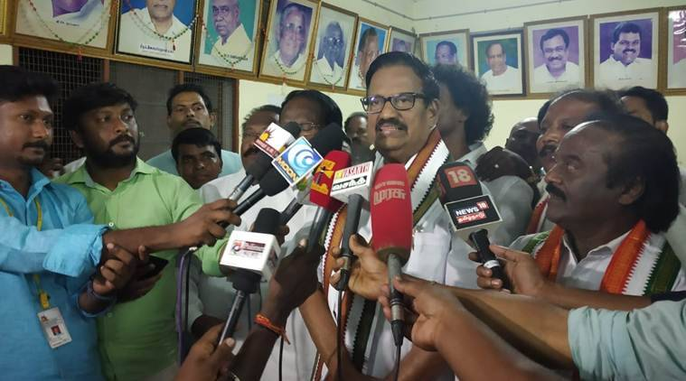 """""""I feel proud to be elected as Tamil Nadu Congress president. My sole aim is to convert all our support into votes,"""" Alagiri said."""