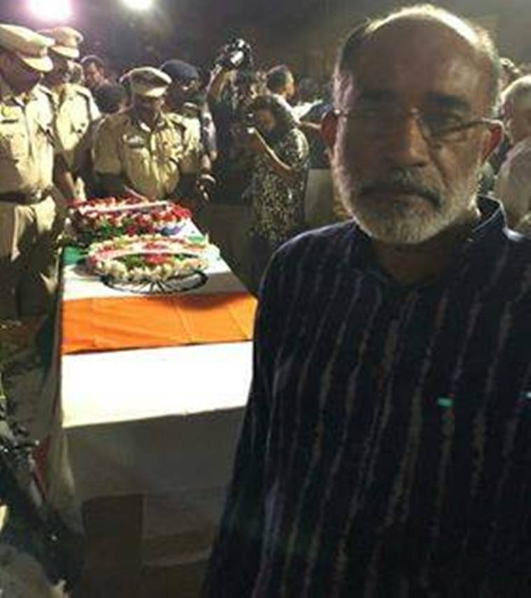 False news, says Kerala minister after being slammed for 'selfie' with coffin of CRPF martyr