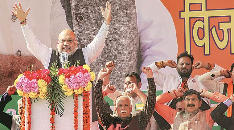 amit shah, amit shah on nehru, amit shah on pulwama attacks, amit shah in jammu, amit shah on kashmir, rahul gandhi, jawaharlal nehru, lok sabah election 2019, lok sabha polls, lok sabha polls 2019, indian express
