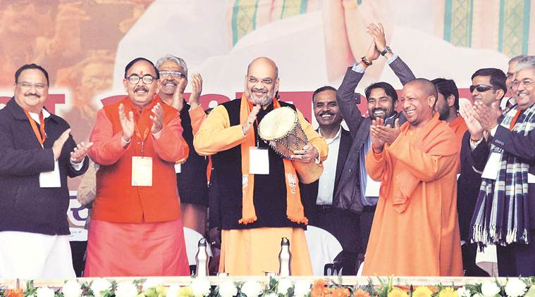Clear stand on Ram temple, Amit Shah challenges Congress, SP, BSP leadership