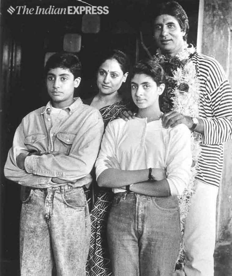 amitabh bachchan with abhishek shweta jaya archive