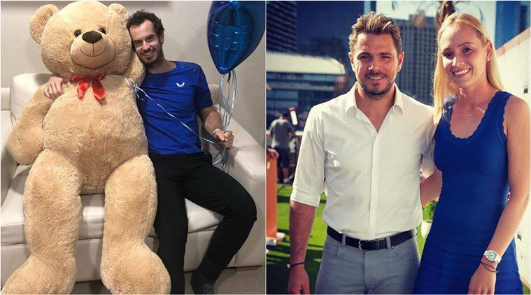 andy murray, andy murray hip surgery, andy murray teddy bear, Stan Wawrinka, Stan Wawrinka gifts andy murray teddy, indian express, sports news, viral news