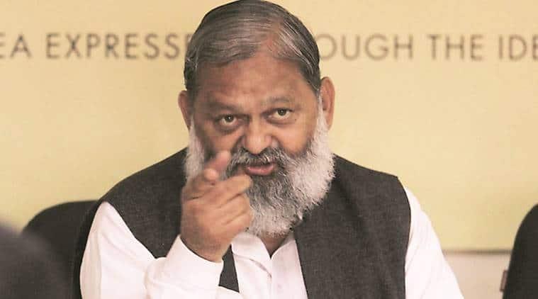 haryana home minister, anil vij, anil vij phissaddi remark, anil vij fisaddi remark, haryana government, haryana news