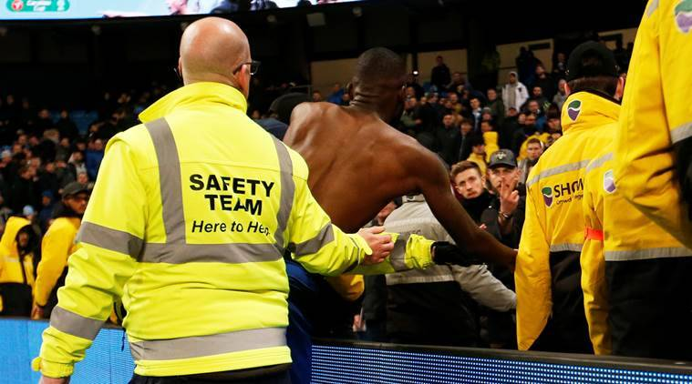 Watch: Chelsea's Antonio Rudiger Involved In Argument With Fan After Manchester City Drubbing