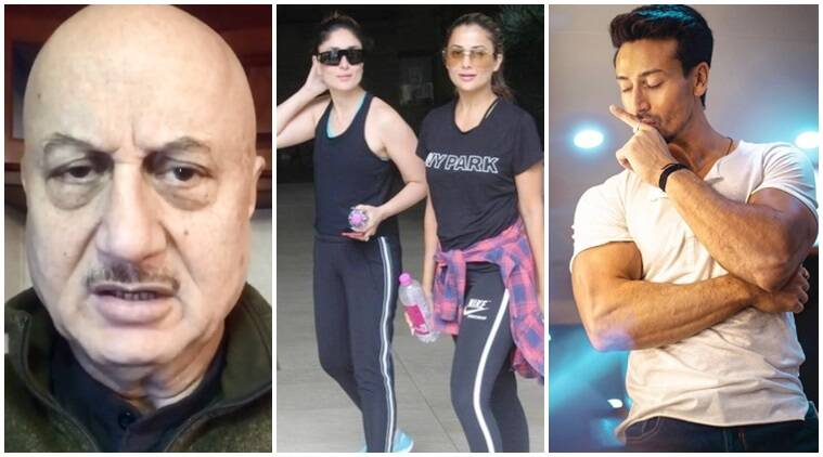 Anupam Kher, Kareena Kapoor Tiger Shroff social media videos