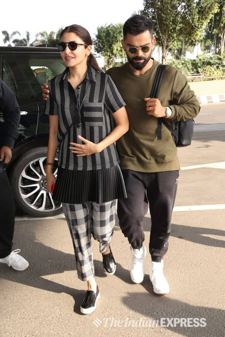 anushka virat at mumbai airport