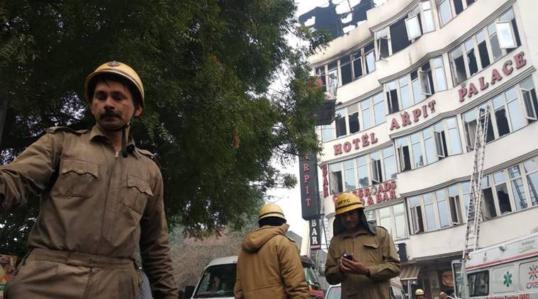 Delhi: At least 9 dead in fire at Hotel Arpit Palace in Karol Bagh