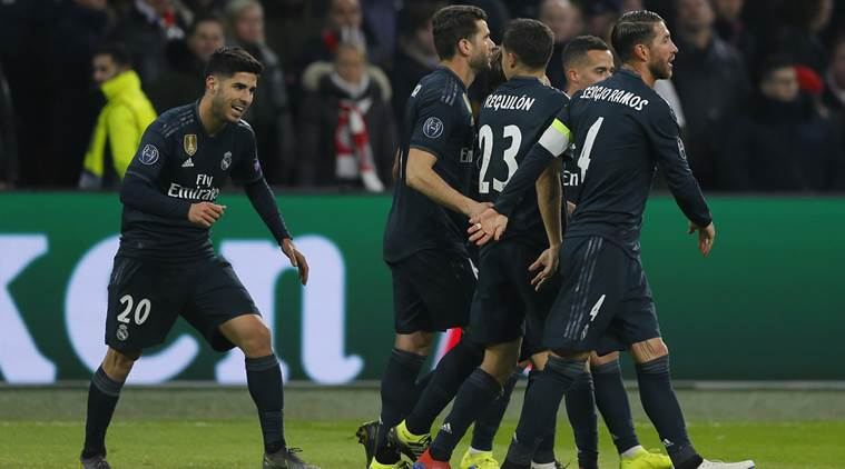 3f93c8ff48e Ajax vs Real Madrid  Substitute Marco Asensio strikes late as Real Madrid  win 2-1 in Champions League