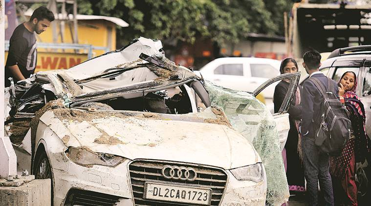 Delhi: Two-year-old Only Survivor As Truck Topples On Audi With 4 Of A Family