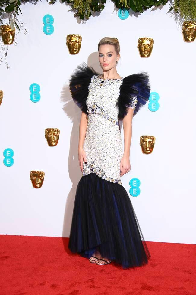 bafta awards 2019 monochrome looks shiny embellishments