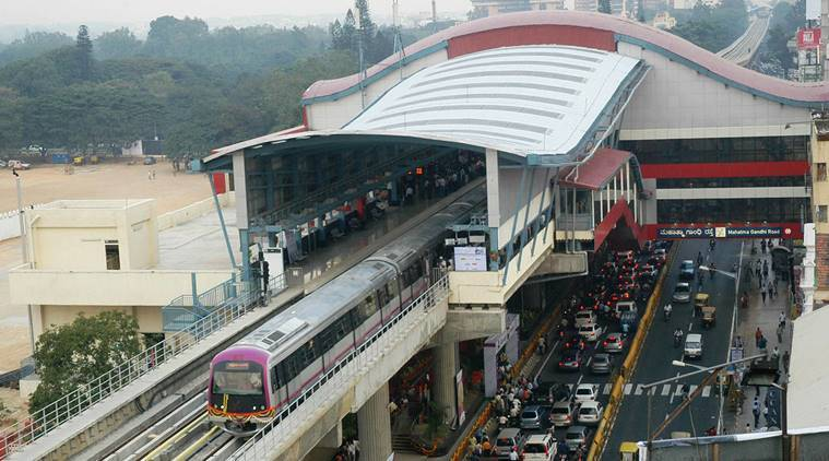 Bangalore metro, BMRCL. red line, Bangalore airport, Kempegowda International Airport, Gottigere, KR Puram, Nagawara, revised line, access to metro, underground stations, elevated stations