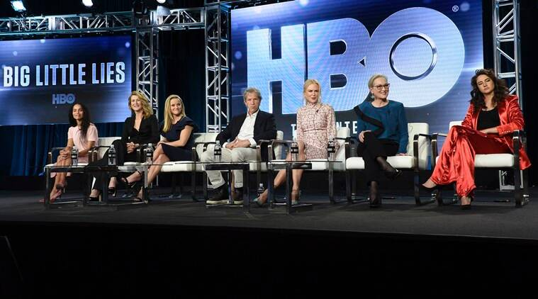 Big Little Lies cast with creator David E Kelley.