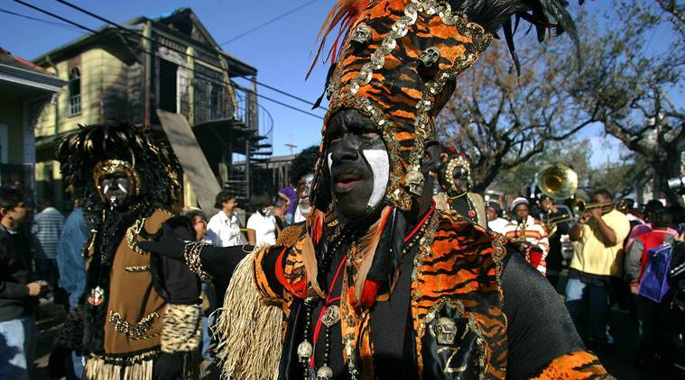 The Zulu Parade passes through New Orleans on Mardi Gras Day. (File/New York Times)