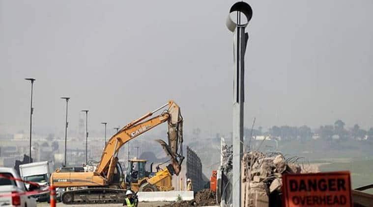 donald trump, border walls, border wall demolished, trump news, world news, indian express news