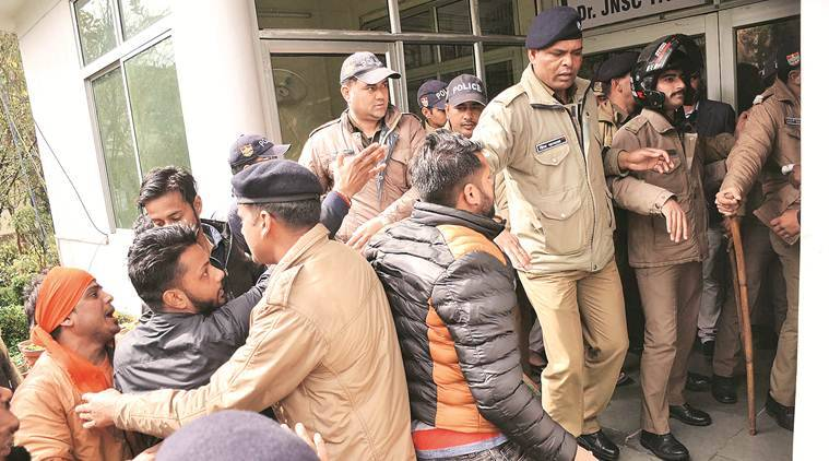 Mob outside, Kashmiri students in Dehradun lock themselves in
