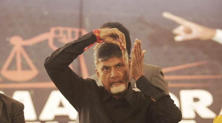 n chandrababu naidu, chandrababu naidu fast, chandrababu fast live updates. chandrababu naidu delhi fast, chandrababu naidu andhra pradesh, ap special status, andhra pradesh special category status, tdp bjp alliance, latest news, indian express