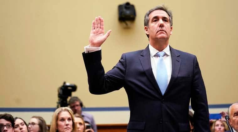 Michael Cohen, Donald trump, trumps former lawyer, Cohens testimony, Capitol hill, washington news, indian express