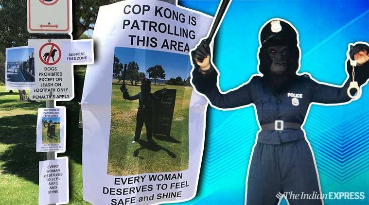 Woman Dresses Up As Gorilla Cop To Catch Pervert In