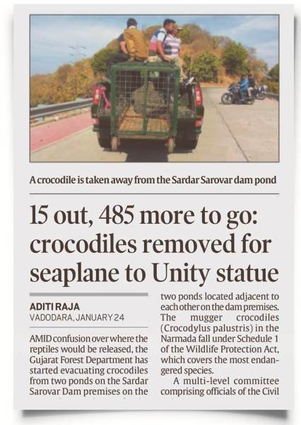 Relocation of crocodiles: Green outfit sends legal notice to CM, Centre