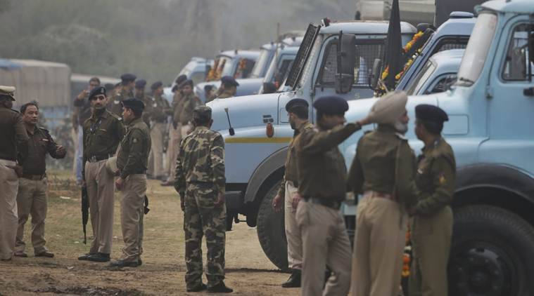Forty CRPF personnel were killed in an attack in Pulwama on Thursday. (Express photo/Praveen Khanna)