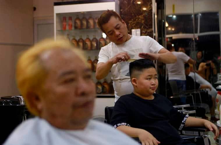 Donald Trump, Kim Jong Un, US president, US-Korea summit, Trump haircuts, Kim haircuts, Hanoi, Vietnam, Barber Trump-Kim haircuts, trending news, indian express, indian express news