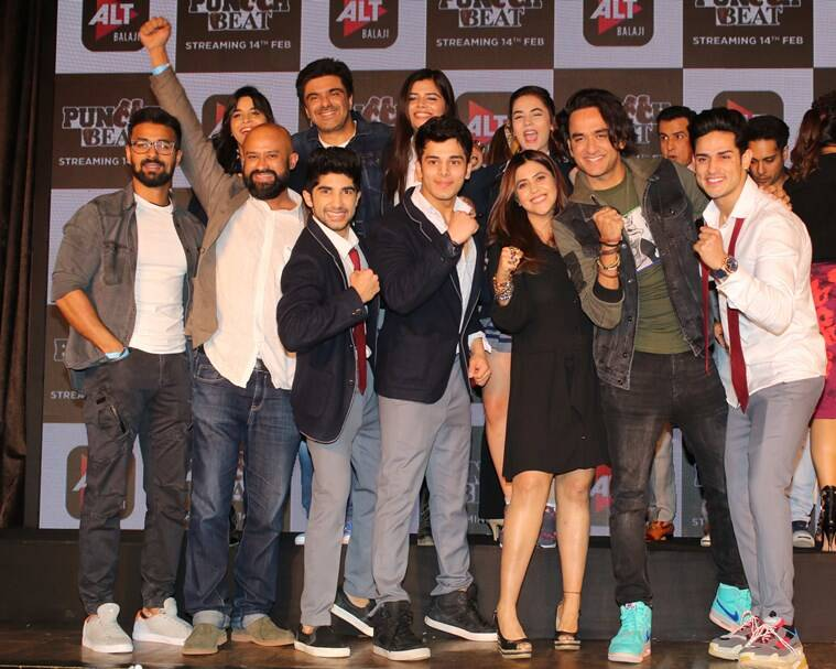Puncch beat cast with Producer Vikas Gupta at the trailer launch