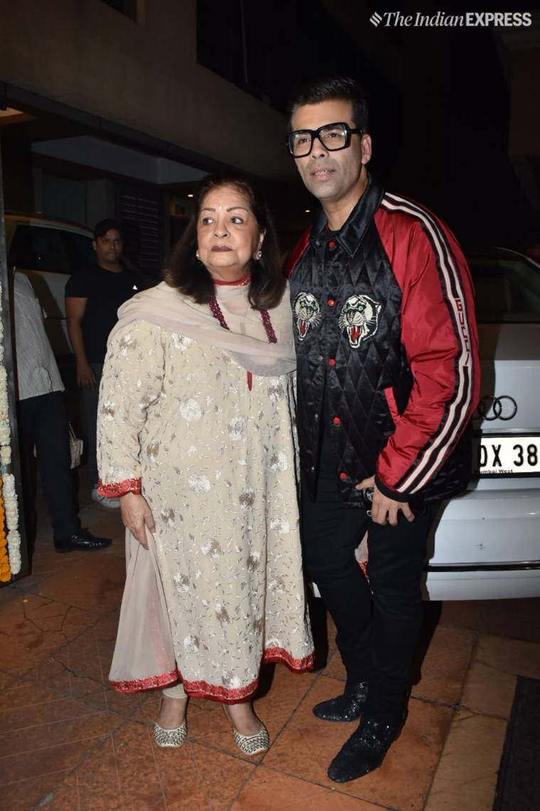 karan johar at ekta kapoor son party