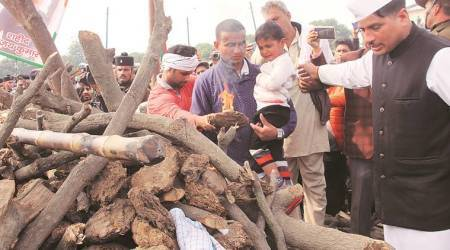 Meerut: BJP leaders blame RLD for trouble at soldier's cremation