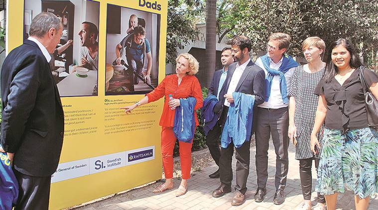 pune exhibition, exhibition on dads, gender equality, Swedish Dads-Indian Dads, pune, pune news, indian express