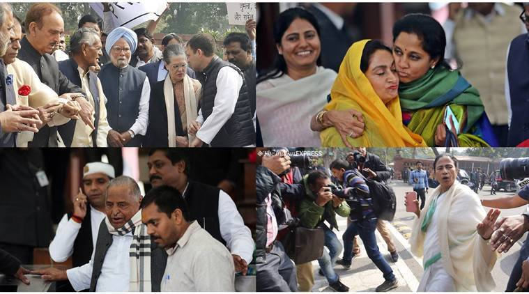 Modi Govt's Last Day In Parliament: Hugs, Digs, Protests, Little Business