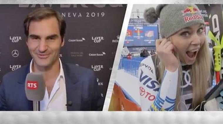 Roger Federer video called Lindsey Vonn after her final race.