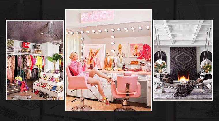 Barbies Gold Leaf Ceilings Walk In Bar Inside Kylie Jenner S Hidden Hills Mansion Lifestyle News The Indian Express