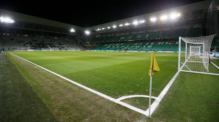 General view of Saint Etienne's stadium