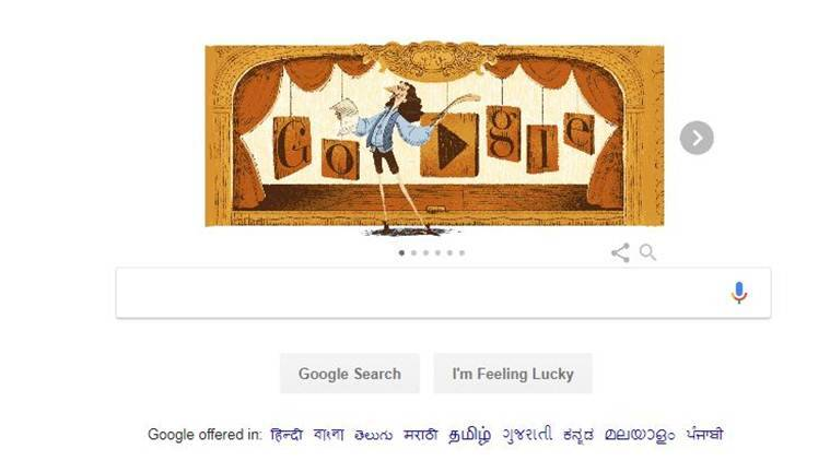 Molière, Google Doodle, google doodle on moliere, french playwright, the imaginary invalid, indian express