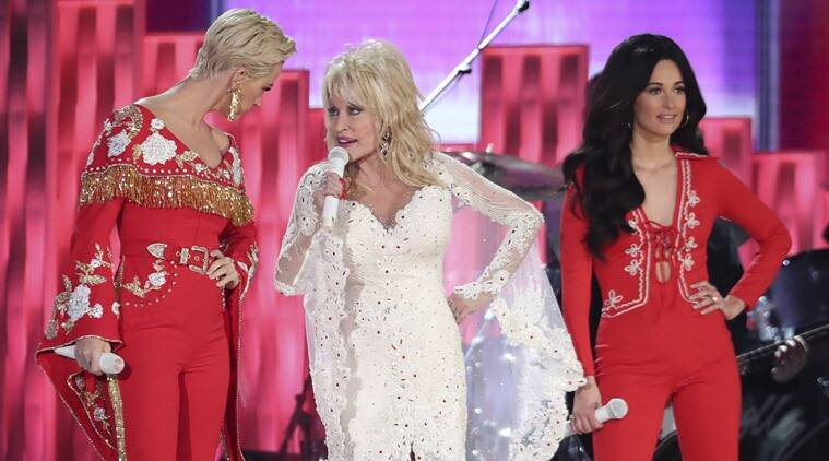 Katy Perry, Dolly Parton and Kacey Musgraves performance grammys 2019