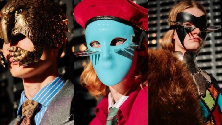 67d0e441b54 Gucci puts on masquerade catwalk as Milan Fashion Week opens ...