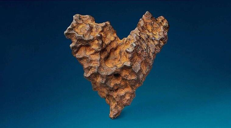 valentines day, valentines day gift ideas, valentines day unique gifts, heart shaped meteorite, Heart of Space auction, odd news, viral news, indian express
