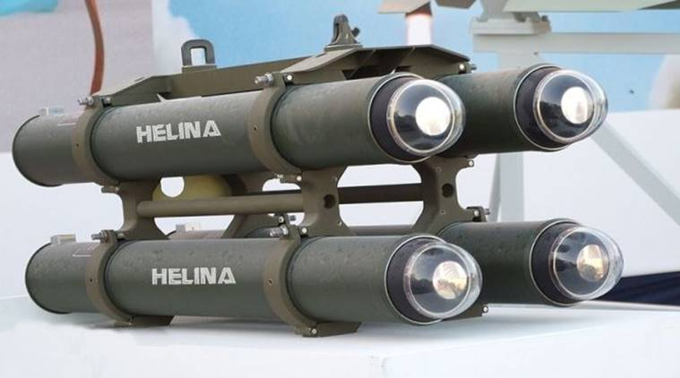 Helicopter-launched anti-tank missile 'Helina' test-fired in Balasore