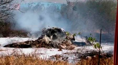 The fighter aircraft of the Indian Air Force crashed at the military airport runway near Bengaluru soon after take-off for a training sortie on Friday. (PTI)