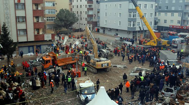 Istanbul, Istanbul building collapse, building collapse Istanbul, Tayyip erdoga, Istanbul news, turkey news, indian express, latest news