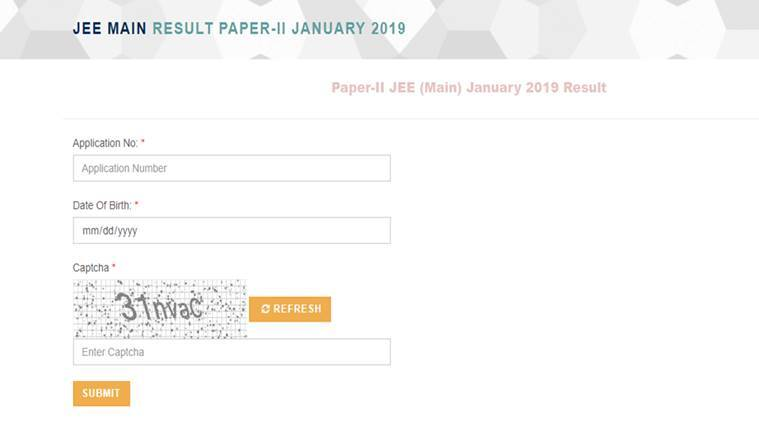 jee main result 2019, jee main paper 2 result, jee main architecture result, B.Arch result, nta result, jeemain.nic.in, nta.ac.in, education news