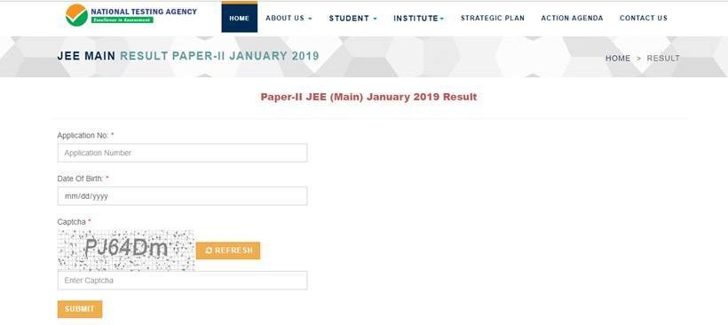 jee main result, jee result, jeemain.nic.in, Jee main paper 2 result, jee main paper 2 answer key, jee main paper 2 how to raise objections, jee main paper 2 nta score, jee main paper 2, jee main updtaes, jee main 2019, nta, nta.ac.in, jeemain.nic.in, BArch admissions, BPlan admission, architecture exam result, paper 2 result