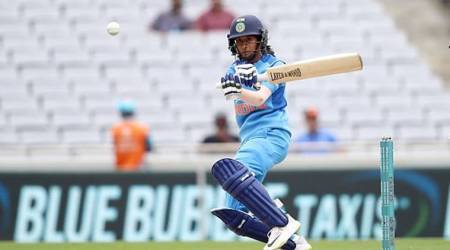 Jemimah Rodrigues in action against New Zealand in the second T20I