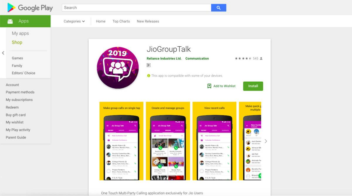 Reliance Jio Group Talk app launched on Android for conference