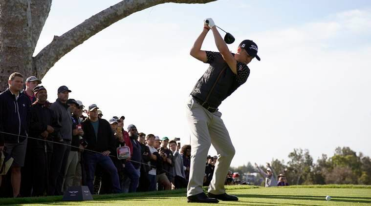 Justin Thomas, Adam Scott lead at rainy Genesis Open