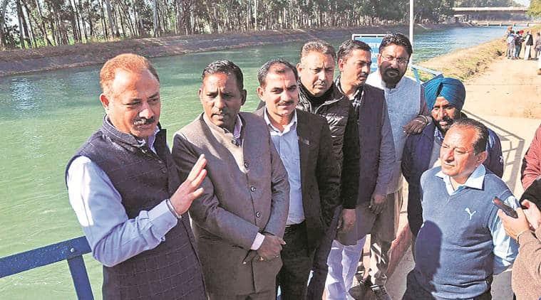 Kajauli water works, kajauli water works trial run, mayor, chandigarh mayor, indian express