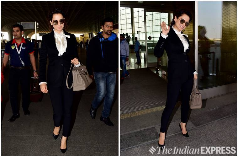 kangana ranaut, deepika padukone, kiara advani, janhvi kapoor, deepika padukone airport fashion, kangana ranaut airport fashion, kiara advani airport fashion, janhvi kapoor airport fashion, celeb fashion, bollywood fashion, indian express, indian express news