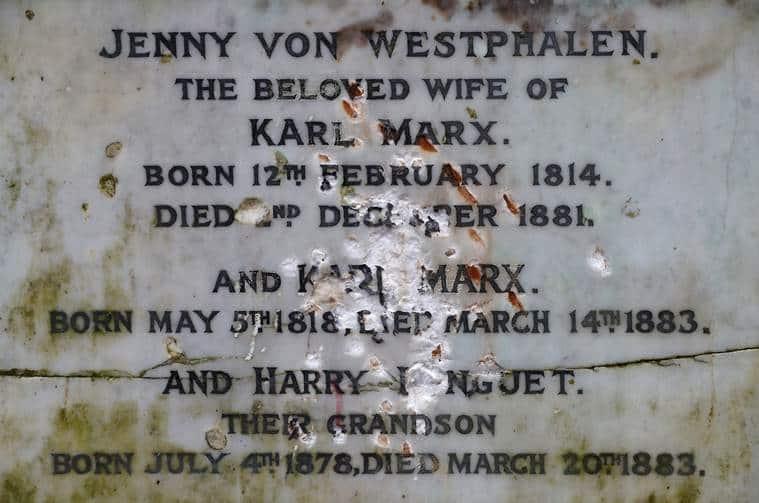Karl Marx's London grave memorial damaged in hammer attack