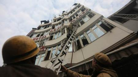 Karol bagh fire, Karol Bagh hotel fire, Hotel Arpit palace, Hotel arpit palace fire, delhi fire, indian express, latest news