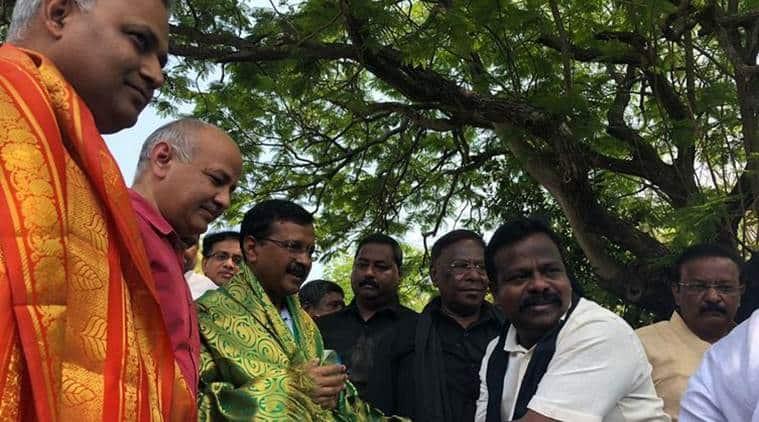 Delhi Chief Minister Arvind Kejriwal arrived in Puducherry on Monday. (Twitter/@ArvindKejriwal)